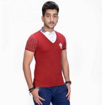 تی شرت یقه دار مردانه 11078 مارک PULAIER