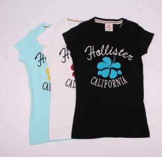 تی شرت زنانه 100628 کد 17 مارک HOLISTER