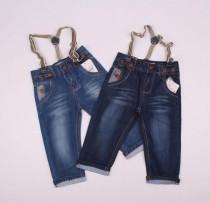 شلوار جینز ساسبنددار 110189 سایز 2 تا 7 سال مارک HANDSOME BOYS