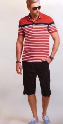 شلوارک کتان مردانه 16395 everyday wear