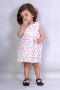 سارافون نخی دخترانه 110191 سایز 6 تا 36 ماه مارک MEANING