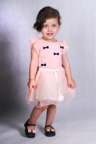 تی شرت دخترانه 110202 سایز 2 تا 6 سال کد 1 مارک XZAU KIDS