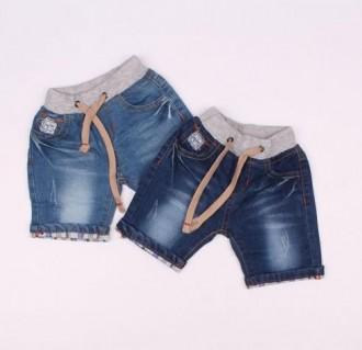شلوارک جینز پسرانه 110211 سایز 6 تا 36 ماه مارک HANDS SOME