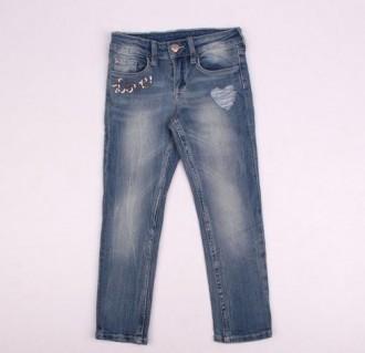 شلوار جینز دخترانه 110295 سایز 3 تا 10 سال مارک DENIM