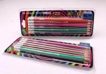 ست 12 عددی مداد مشکی همراه با تراش 16472 مارک LUCKY
