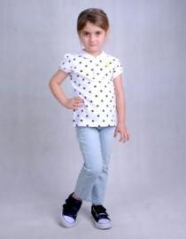 تی شرت دخترانه 110317 سایز 2 تا 6 سال مارک LUPILU