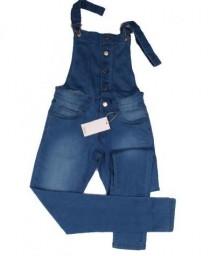 پیشبنددار جینز زنانه 16190 سایز 36 تا 48 مارک MANGO