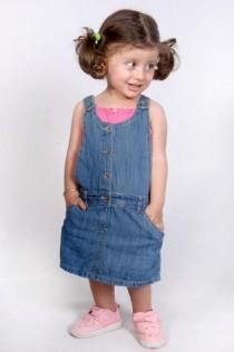 پیشبندار جینز دامنی دخترانه 110398 سایز 6 ماه تا 2 سال مارک DOPODOPO