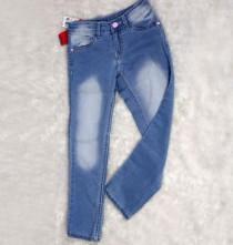 شلوار جینز دخترانه 16114 سایز 6 تا 14 سال مارک PINK&BEUE
