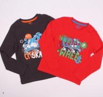 تی شرت دو عددی پسرانه 110870 سایز 12 ماه تا 6 سال مارم Lupilu