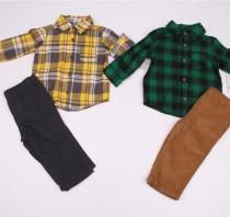 ست پیراهن و شلوار پسرانه 110796 سایز بدوتولد تا 5 سال مارک Carters