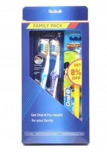 ست مسواک خانوادگی Oral-B Pro Health کد 14180 (viva)