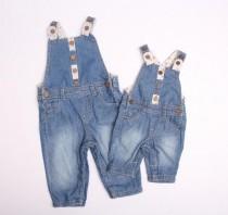 پیشبندار جینز دخترانه 110724 سایز 3 تا 24 ماه مارک F&F
