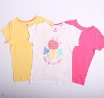 تی شرت سه عددی دخترانه 111087 سایز 1.5 تا 6 سال مارک LUPILU