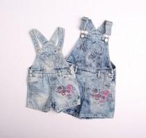 پیشبنددار جینز دخترانه 110621 سایز 3 ماه تا 7 سال مارک F&F