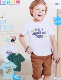 تی شرت سه عددی پسرانه 13658 سایز 18 ماه تا 6 سال مارک LUPILU