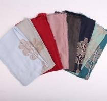 روسری گلدوزی نخی 12325 کد 2