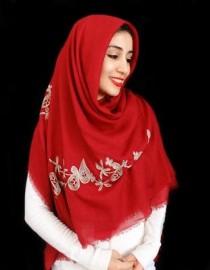 روسری نخی خامه دوزی 12606 کد 2