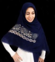 روسری نخی خامه دوزی 12625
