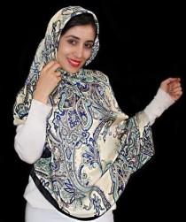 روسری مامی ابریشمی 12619 کد 3