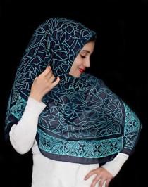 روسری حریر نخ 12622 کد 2