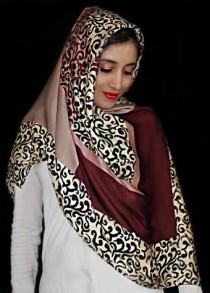 روسری مامی ابریشمی 12619 کد 2