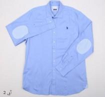 پیراهن سایز بزرگ مردانه 11859 کد 4 مارک US POLO