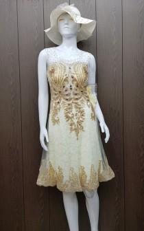 لباس مجلسی کوتاه 400292 کد 2