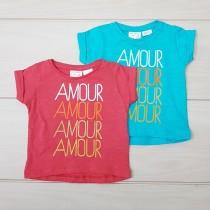 تی شرت دخترانه 19956 سایز 3 ماه تا 9 سال مارک ZARA