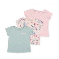 تی شرت سه عددی دخترانه 20592 سایز 2 تا 6 سال مارک NEXT