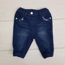 شلوار جینز دخترانه 21008 سایز 6 ماه تا 2 سال مارک BABY CLUB