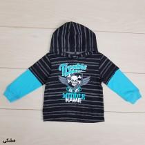 بلوز گرم کلاه دار پسرانه 21057 سایز 12 ماه تا 5 سال مارک WONDER KIDS