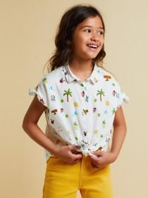 پیراهن دخترانه 21201 سایز 5 تا 14 سال مارک ZARA