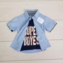 پیراهن پسرانه 21257 سایز 2 تا 8 سال مارک super boys