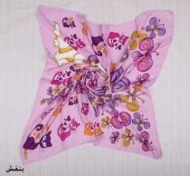 روسری حریر نخ دخترانه 10967 کد 3