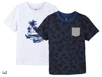 تی شرت دو عددی پسرانه 22230 سایز 18 ماه تا 6 سال مارک LUPILU
