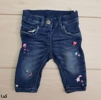 شلوار جینز دخترانه 22314 سایز 3 ماه تا 2 سال مارک BABY CLUB