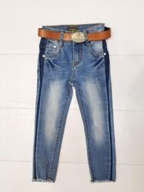 شلوار جینز دخترانه همراه با کمربند 403065