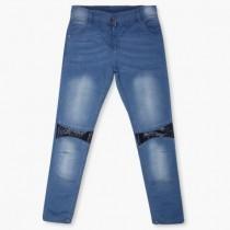 شلوار جینز دخترانه 10914 سایز  8 تا 14 سال مارک MAX