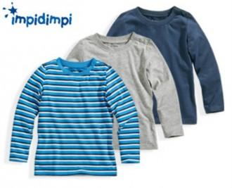 تی شرت سه عددی پسرانه 18234 سایز 62 تا 104 مارک IMPIDIMPI