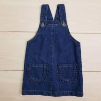 پیشبندار جینز دخترانه 22861 سایز 3 ماه تا 4 سال مارک NEXT