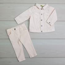 ست جینز دخترانه 23214 سایز 3 تا 36 ماه مارک TAPEA LOEIL