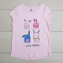 تی شرت دخترانه 23096 سایز 1.5 تا 10 سال مارک H&M