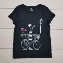 تی شرت دخترانه 23086 سایز 9 تا 16 سال مارک H&M