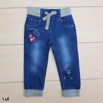 شلوار جینز کمرکش دخترانه 23578 سایز 9 ماه تا 3 سال مارک TOPOMINI