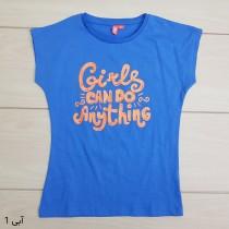 تی شرت دخترانه 23471 سایز 4 تا 10 سال مارک GIRLS