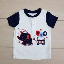 تی شرت پسرانه 23383 سایز بدوتولد تا 24 ماه