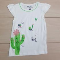 تی شرت دخترانه 23408 سایز 6 ماه تا 2 سال مارک BLUE SEVEN