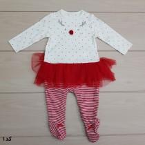 سرهمی جورابدار دخترانه 24296 سایز 1 تا 24 ماه مارک Mothercare