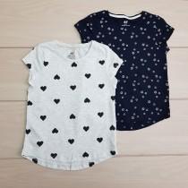 تی شرت دخترانه 24538 سایز 2 تا 10 سال مارک H&M
